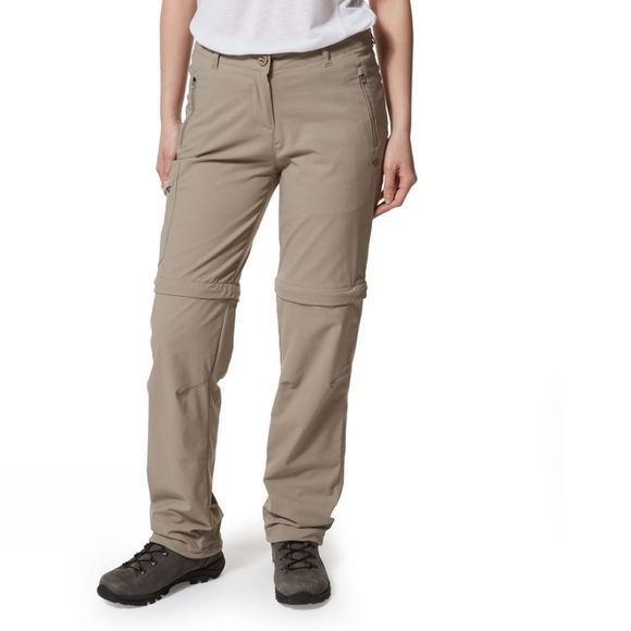 Craghoppers Womens NosiLife Pro Convertible Trousers Mushroom