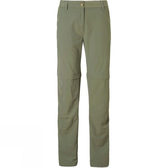 Craghoppers Womens NosiLife Zip Off Trousers Soft Moss