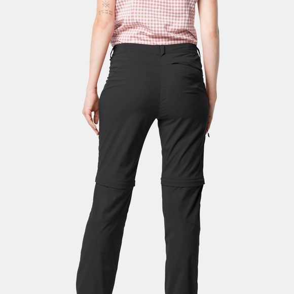Jack Wolfskin Womens Activate Light Zip Off Trousers Black