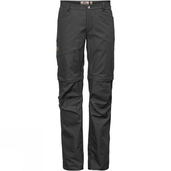 Fjallraven Womens Daloa Shade Zip-Off Trousers Dark Grey