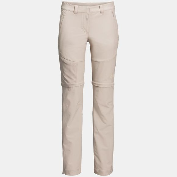 Jack Wolfskin Womens Activate Zip Away Pants Light Beige