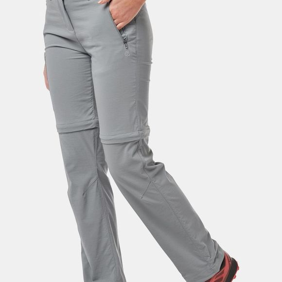 Craghoppers Womens NosiLife Pro II Convertible Trouser Cloud Grey