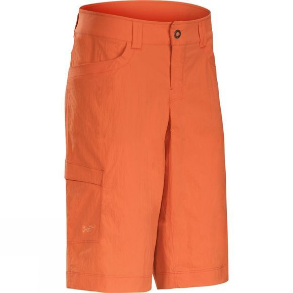 Arc'teryx Womens Parapet Long Shorts Fiesta