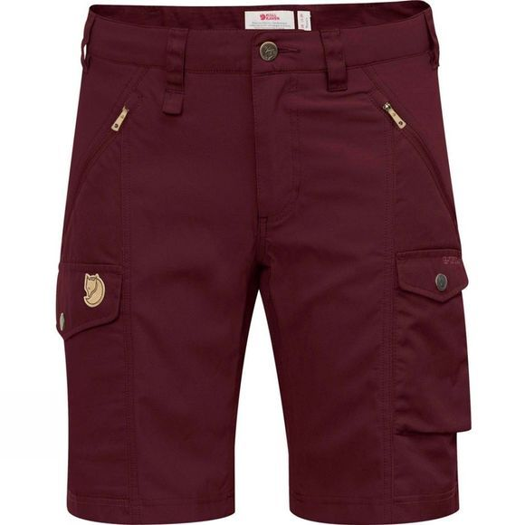 Fjallraven Womens Nikka Shorts Curved Dark Garnet