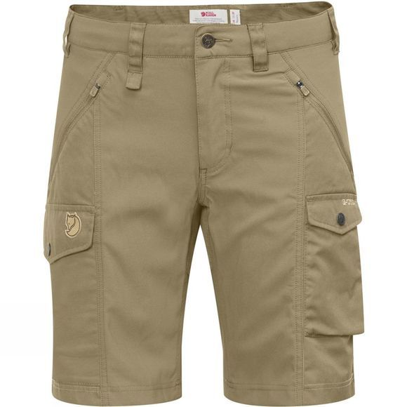 Fjallraven Womens Nikka Shorts Curved Sand
