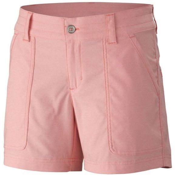 Columbia Womens Pilsner Peak Shorts Coral Bloom