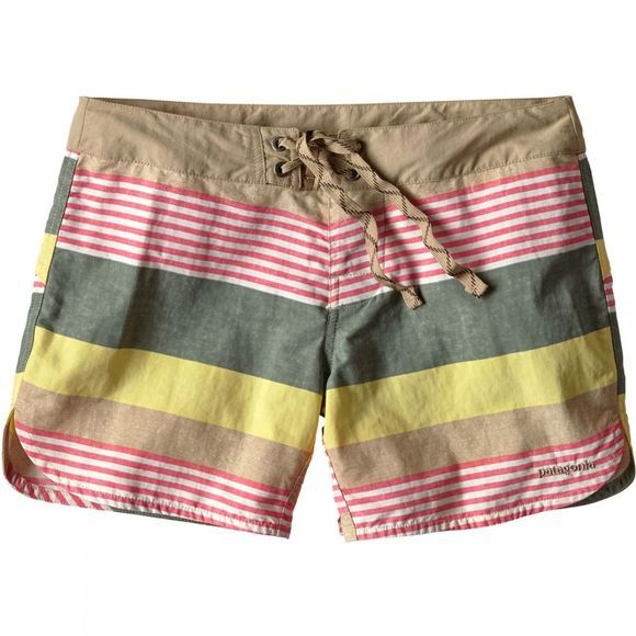 Patagonia Womens Wavefarer Board Shorts Fitz Stripe Pelican