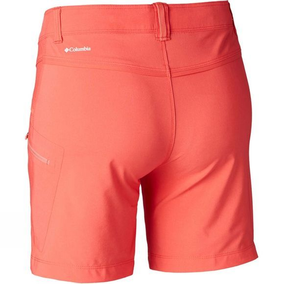 Columbia Womens Peak to Point Shorts Red Coral, Coral Bloom