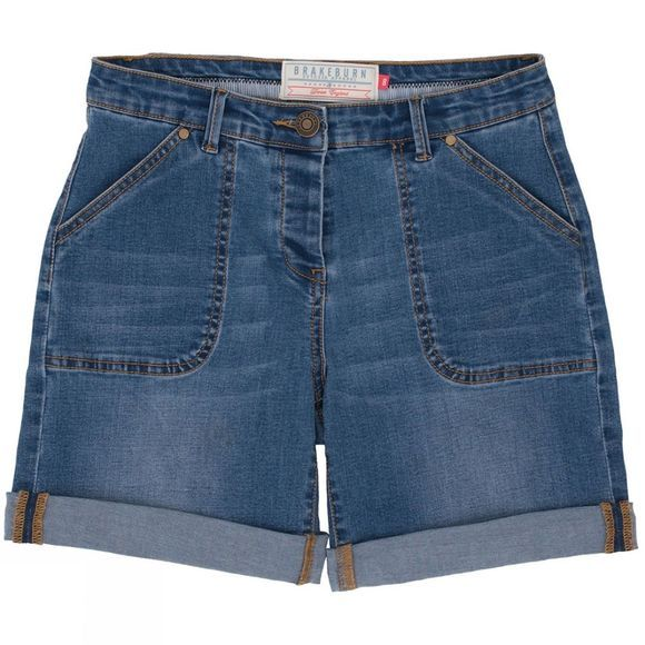 Brakeburn Womens Denim Shorts Blue