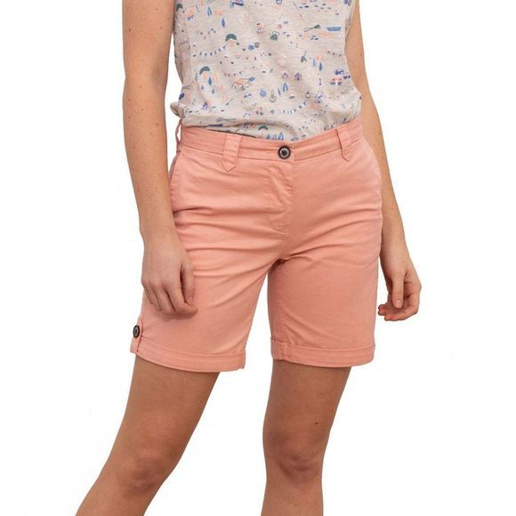 Brakeburn Womens Turn Up Shorts Peach