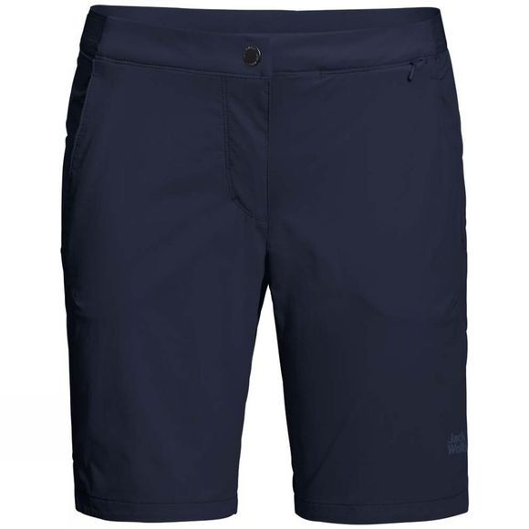 Jack Wolfskin Womens Hilltop Trail Shorts Midnight Blue