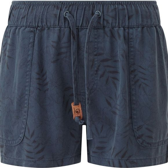 Tentree Womens Instow Short Spruce Blue-Floral AOP