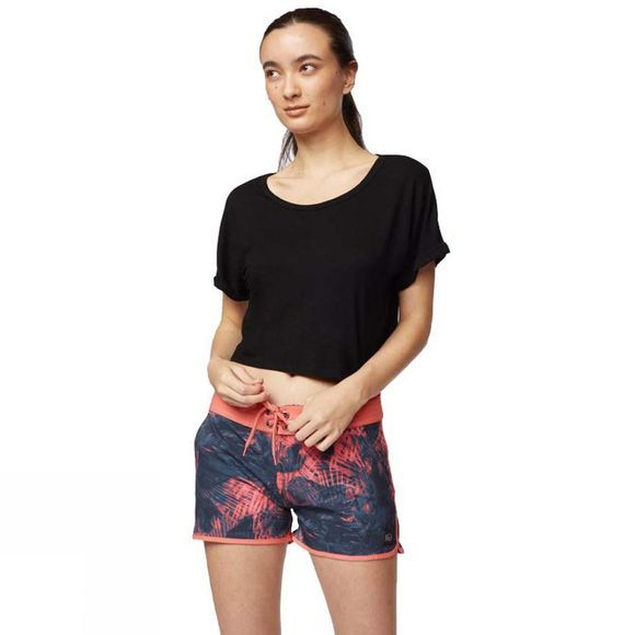 Tentree Womens Palmy AOP Boardshort Porcelain Rose/Porcelain Rose