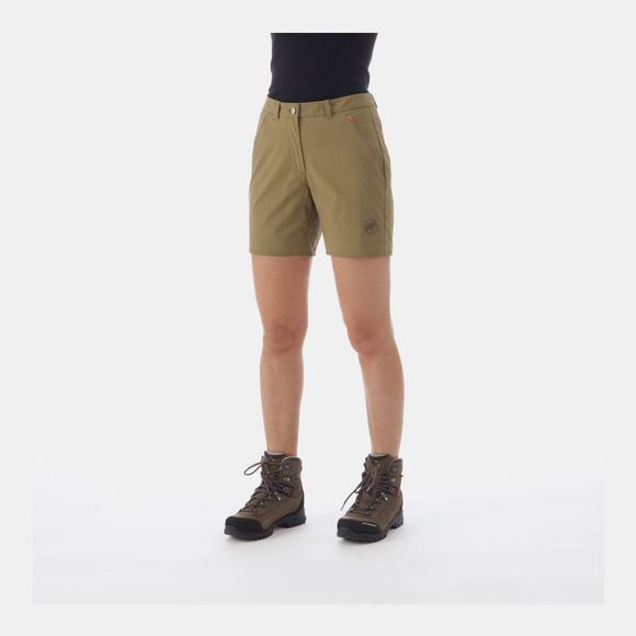 Mammut Womens Hiking Shorts Olive