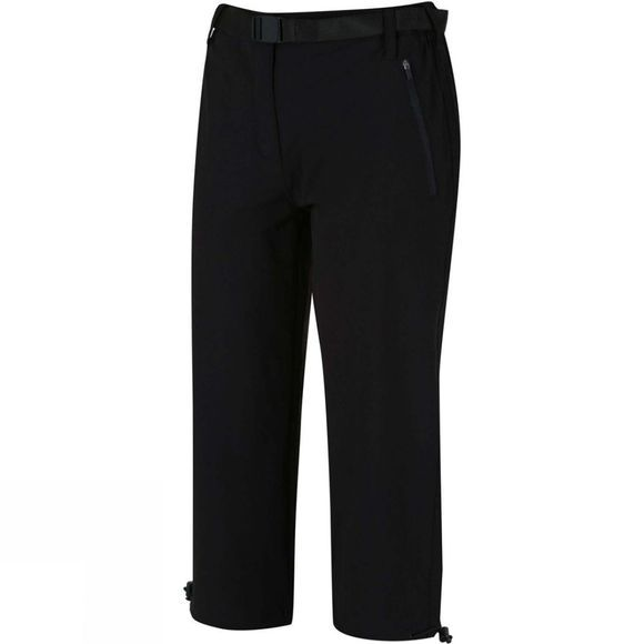 Regatta Womens Xert Stretch Capris II Black