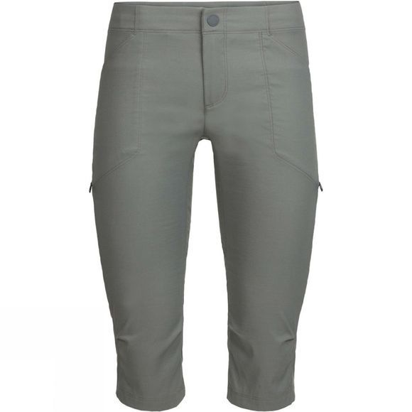 Icebreaker Womens Connection Commuter 3Q Pants Metal