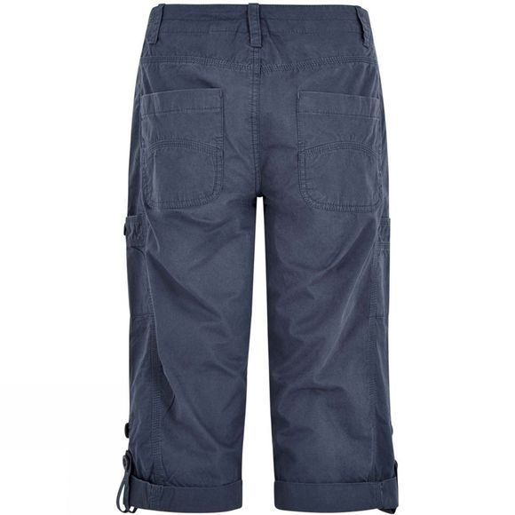 Weird Fish Womens Salena 3/4 Trousers Dark Navy