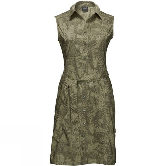 Jack Wolfskin Womens Sonora Jungle Dress Burnt Olive All Over