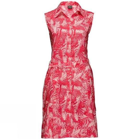 Jack Wolfskin Womens Sonora Jungle Dress Hot Coral All Over
