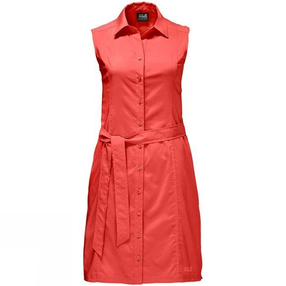 Jack Wolfskin Womens Sonora Dress Hot Coral