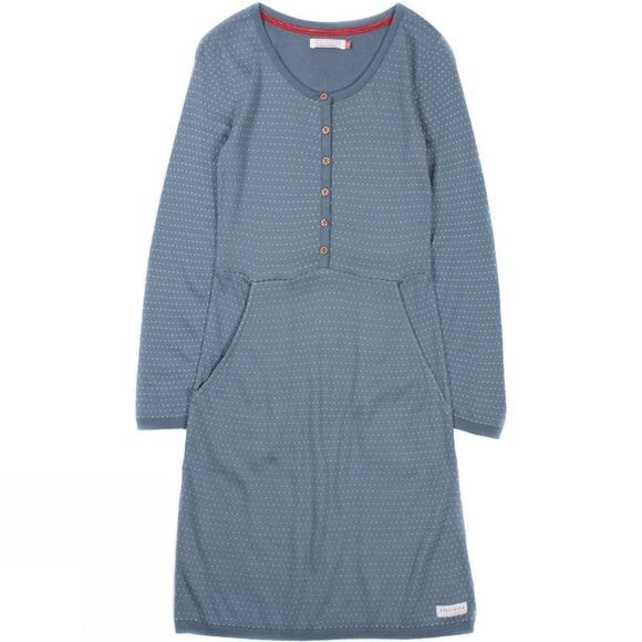 Womens Knitted Henley Dress
