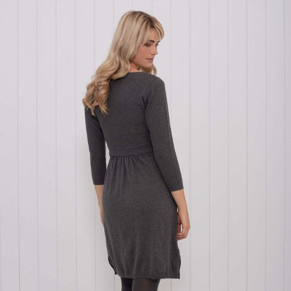 Brakeburn Womens Knitted Dress Charcoal