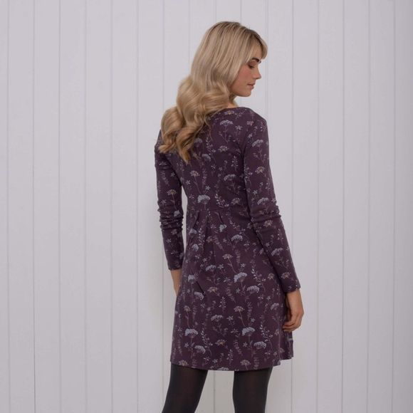 Brakeburn Womens Autumn Leaves Dress Purple