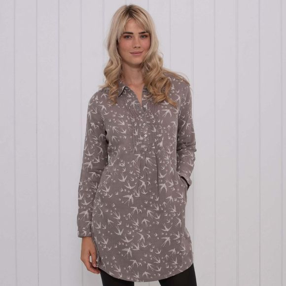 Brakeburn Womens Birds Tunic Grey