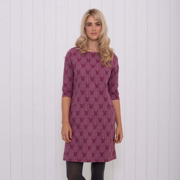 Womens Textured Leaf Woven Dress