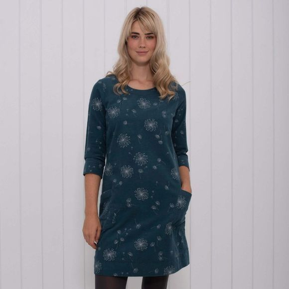 Brakeburn Womens Dandelion Corduroy Dress Teal