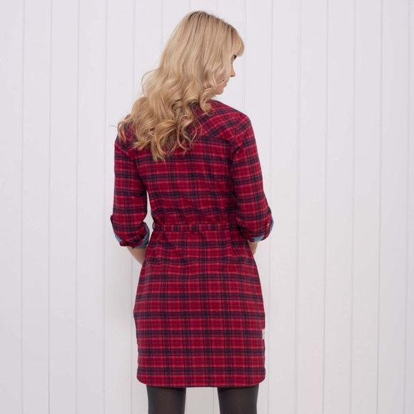 Womens Check Shirt Dress