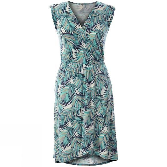 Royal Robbins Women's Noe Cross-Over Dress Aqua Print