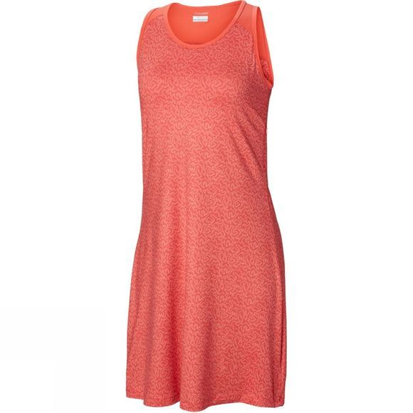 Columbia Womens Saturday Trail III Dress Red Coral Geo Print