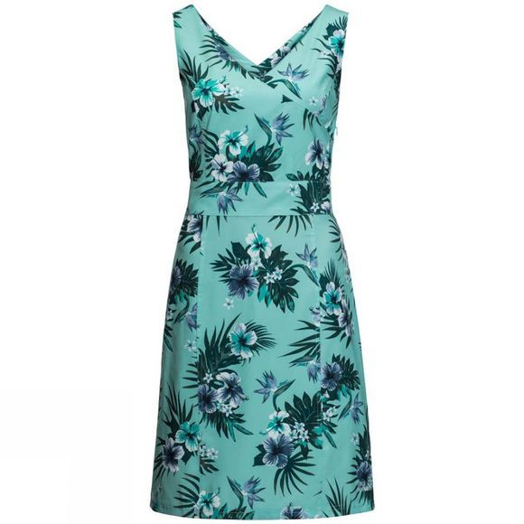 Jack Wolfskin Womens Wahia Tropical Dress Aqua All Over