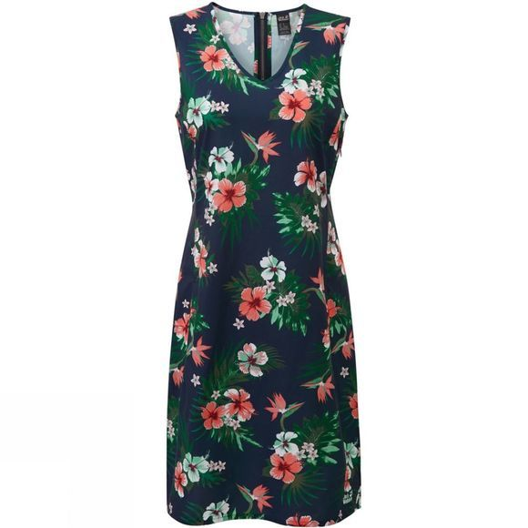 Jack Wolfskin Womens Tioga Road Dress  Midnight Blue/Floral Print