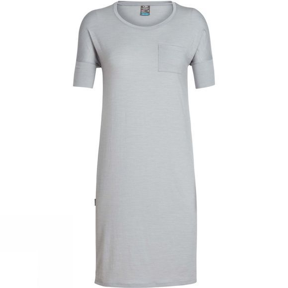 Icebreaker Womens Yanni Tee Dress Lunar Heather