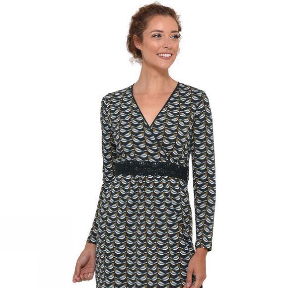 Brakeburn Women's Finch Wrap Dress Forest Green