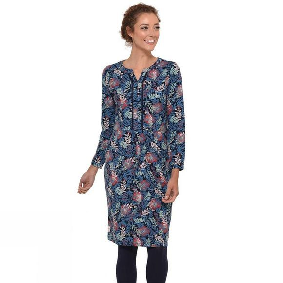 Brakeburn Womens Falling Leaf Dress Navy