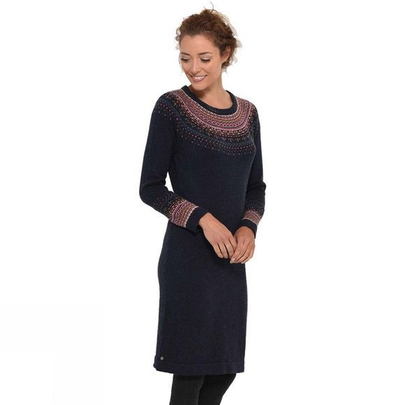 Brakeburn Women's Fairisle Dress Navy