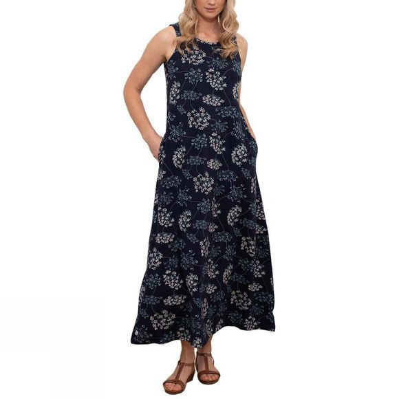 Brakeburn Women's Cow Parsley Maxi Dress Navy
