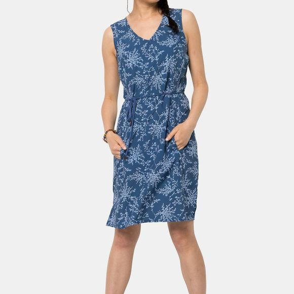 Jack Wolfskin Womens Tioga Road Print Dress Ocean Wave All Over