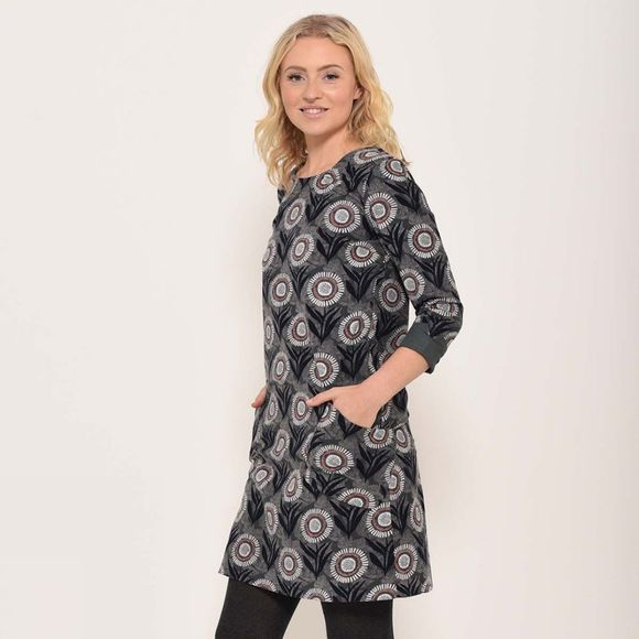 Brakeburn Martha shift dress Blue Slate