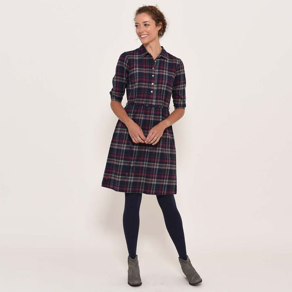 Brakeburn Flannel dress Navy