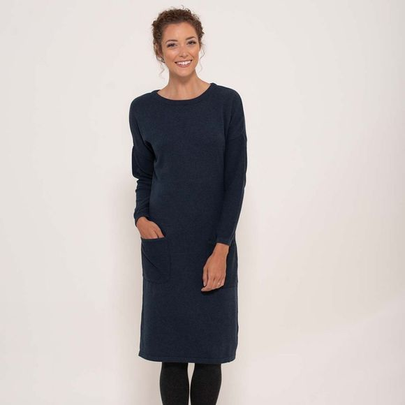 Brakeburn Seed knit dress Midnight Blue