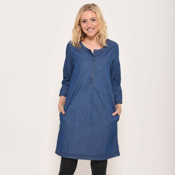 Brakeburn Denim pleat dress Blue