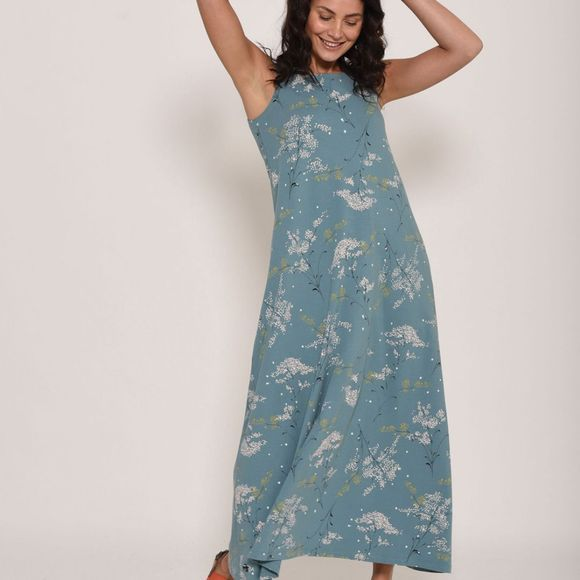 Brakeburn Womens Neem Maxi Dress Teal