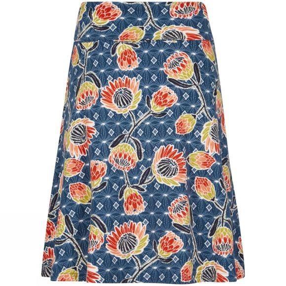 Weird Fish Womens Malmo Printed Jersey Skirt Dark Navy