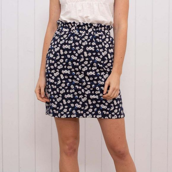 Brakeburn Women's Aster Daisy Skirt Navy