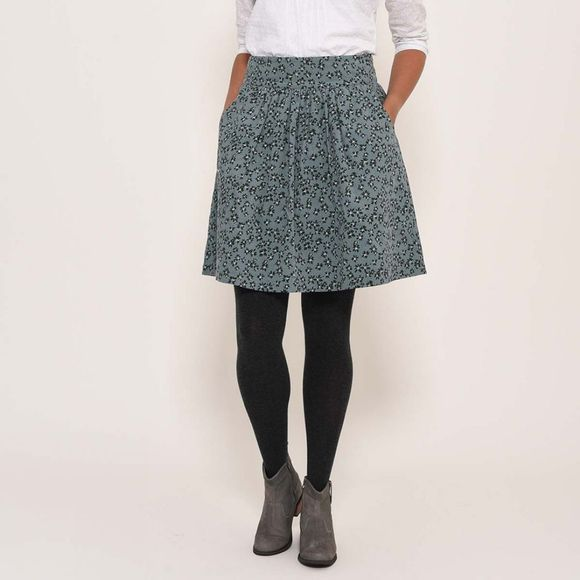 Brakeburn Flora cord skirt Light Teal