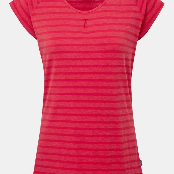 Mountain Equipment Womens Equinox Tee Virtual Pink stripe